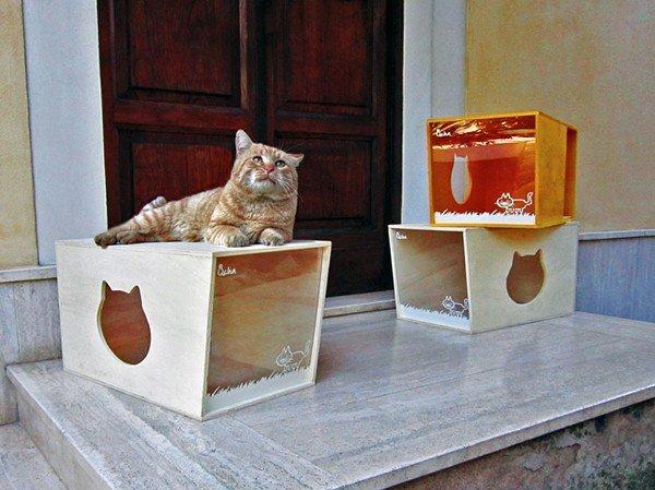 Дом для кота из фанеры своими руками 31