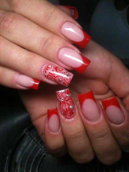 Нарощенные ногти френч красивые