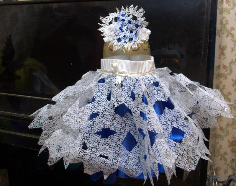Платья снежинок своими руками
