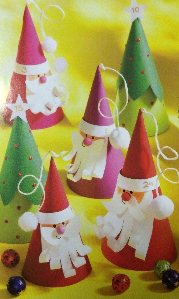 Дед мороз на елку из картона