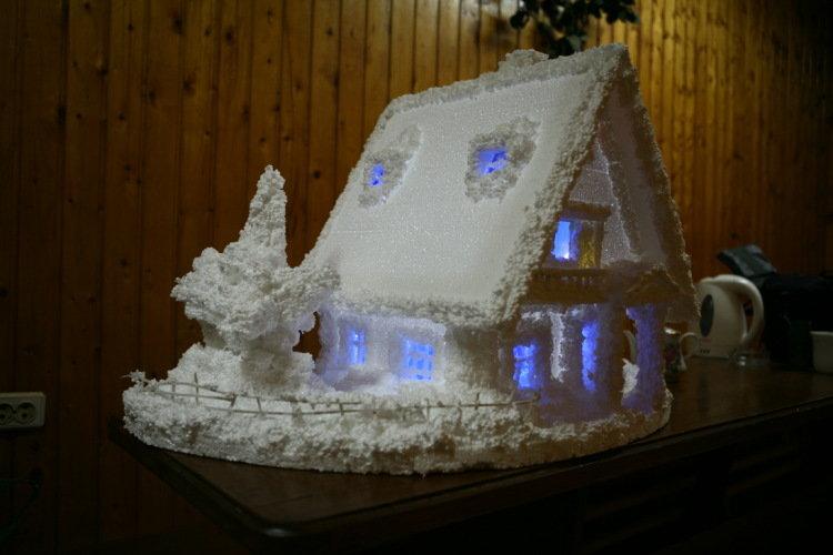 Новогодний домик своими руками в детский сад