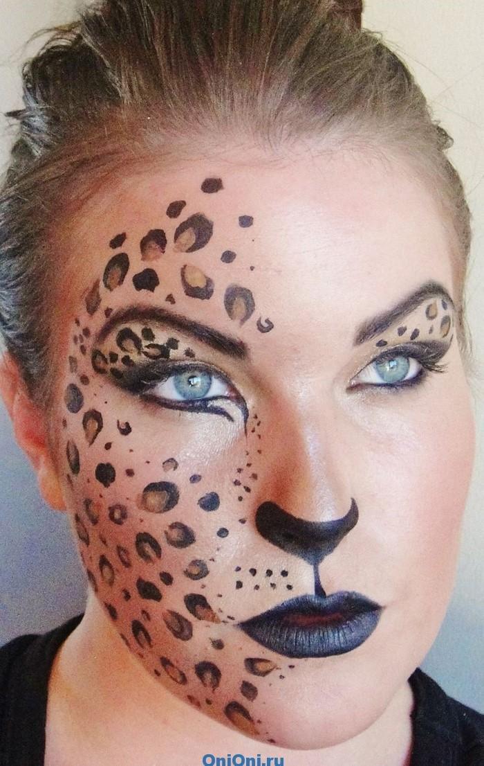 Как рисовать на лице макияж