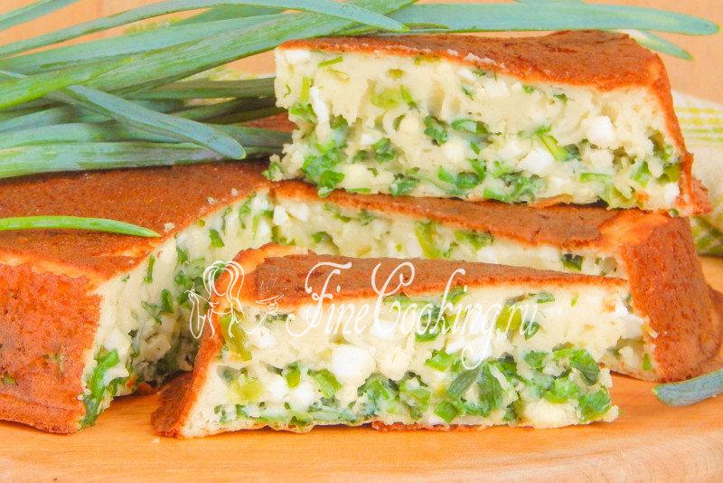 Рецепт заливного пирога с яйцом и луком