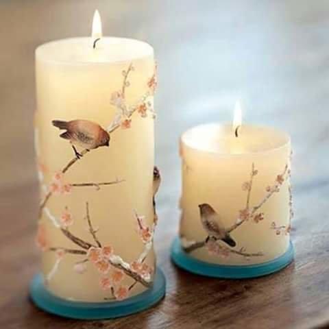Декупаж на свечи своими руками