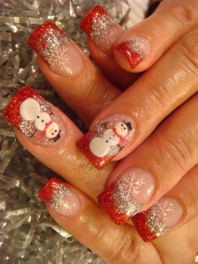 Фото новогоднего дизайн ногтей