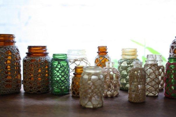 Необычное использование бутылок Дизайн интерьера Декор