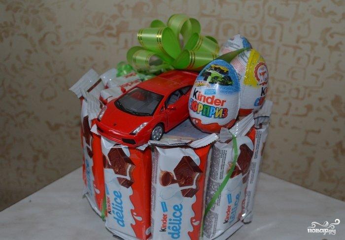 Подарок ребенку из шоколадок 321