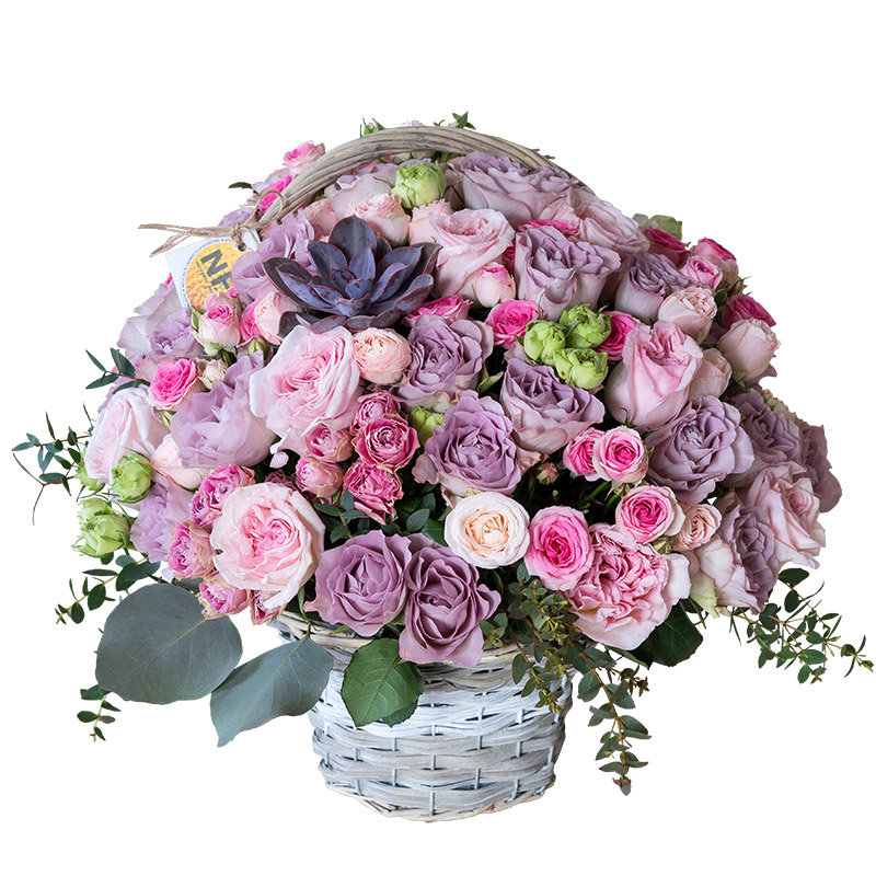 Фото цветы в корзине букеты большие