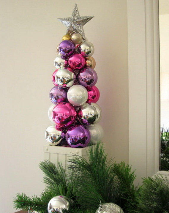 Новогодняя елка из шаров своими руками