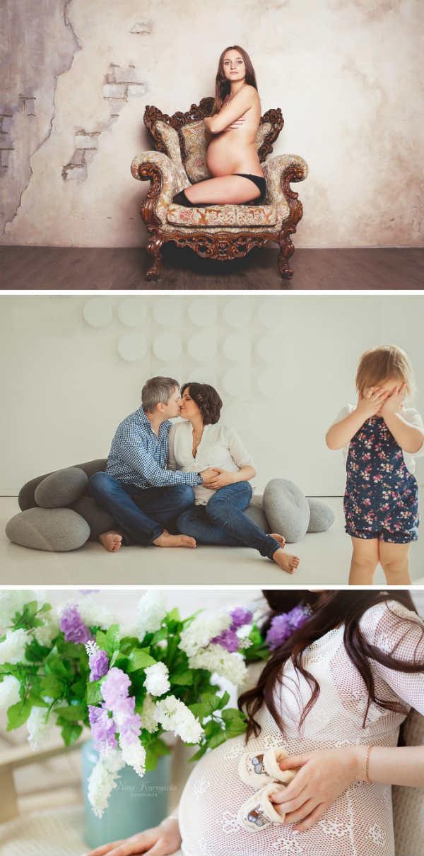 Фотосессия беременных в студии идеи для фото 30