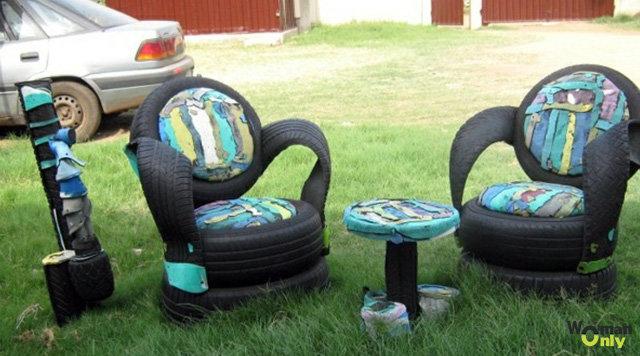 Мебель из колёс своими руками фото 231