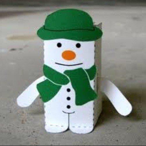 Как сделать снеговика из бумаги своими