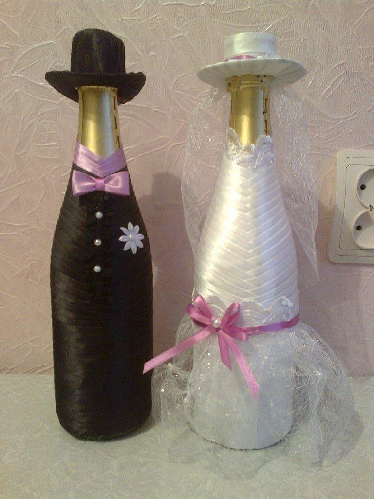 Украсить бутылку шампанского своими руками с фото 315