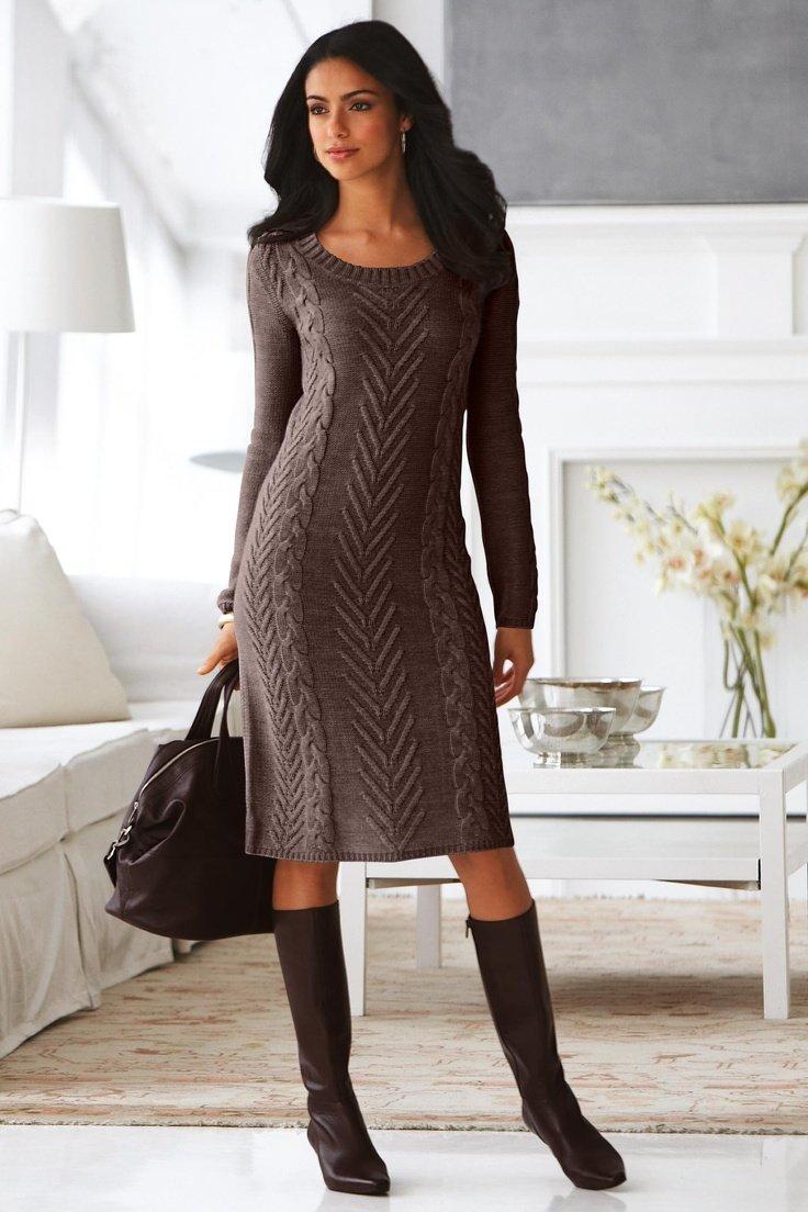 Вязанные платья на моделях