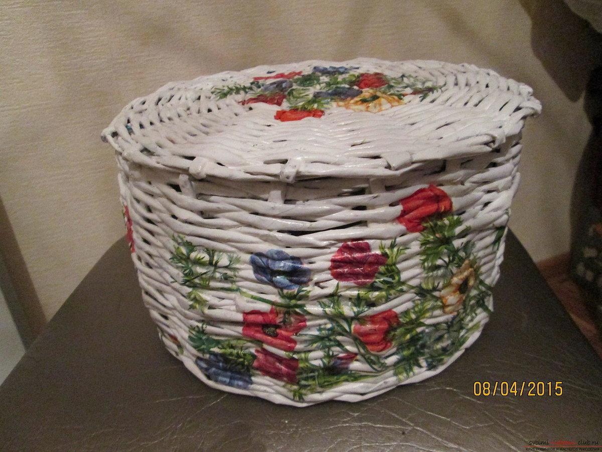Поделки корзины из бумаги фото 533