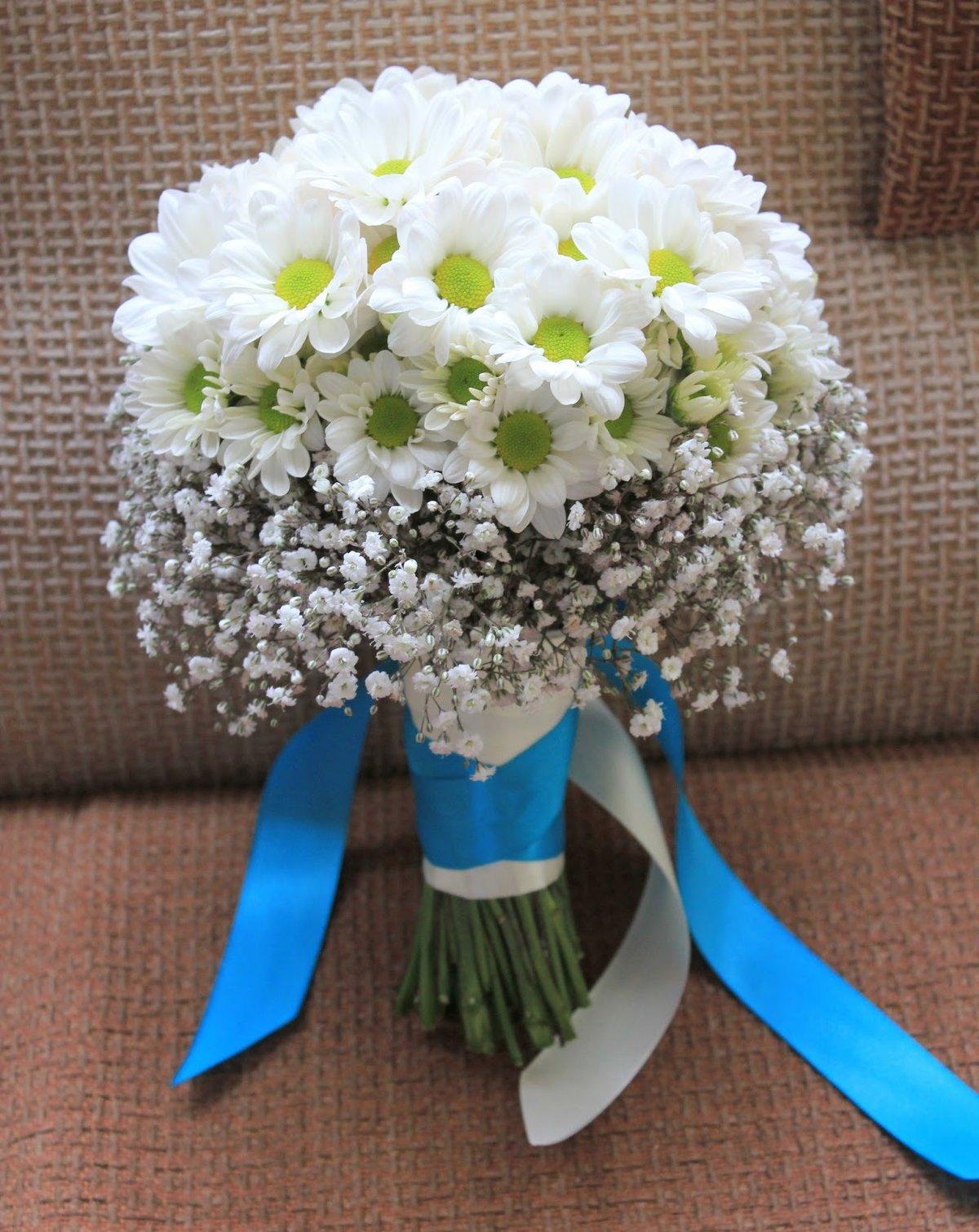 Как сделать букет невесты из хризантем своими руками видео