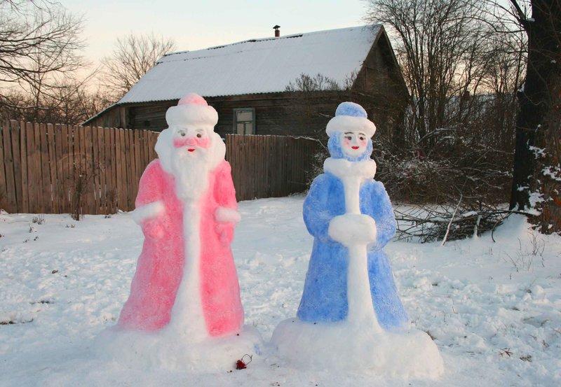 Из снега фигурки своими руками
