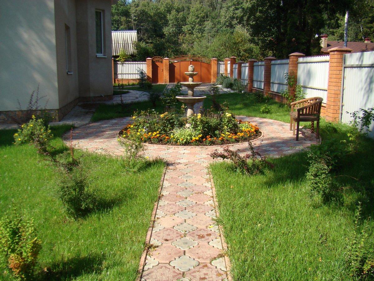 Передний двор частного дома фото своими руками