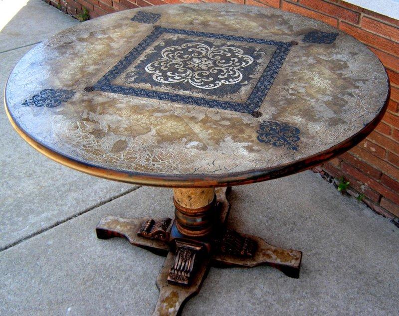 Как декорировать старый стол своими руками 493