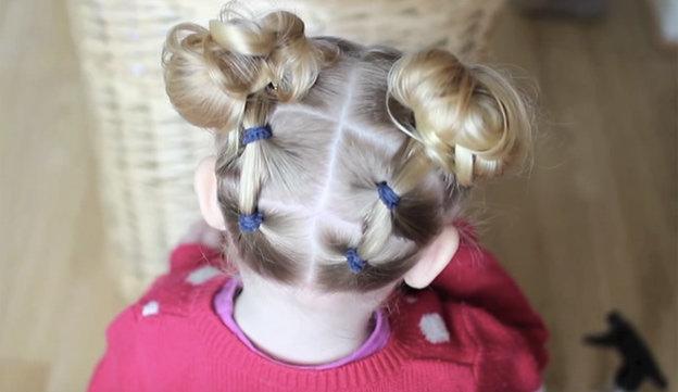 Фото причёски для маленьких девочек на средние волосы
