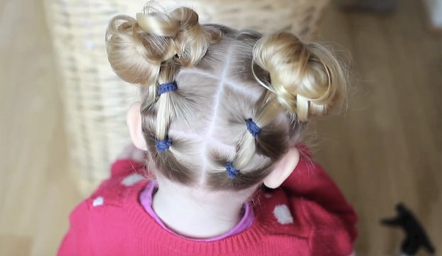 Прическа для девочки на короткие волосы пошаговое