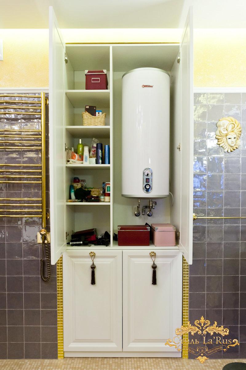 Как сделать шкаф в ванной