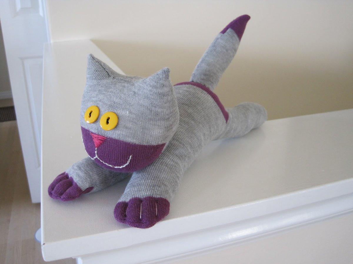 Кот из носков своими руками кот