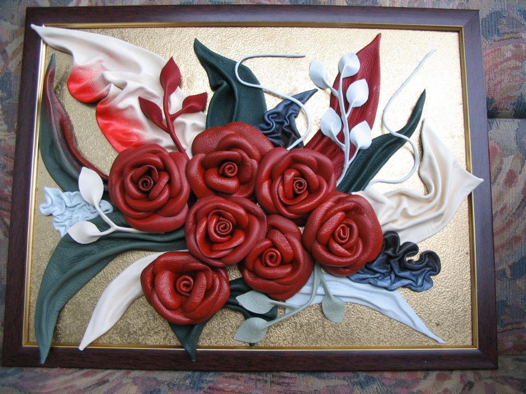 Объемные картины цветы своими руками 7