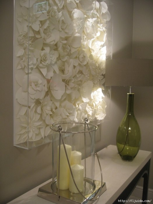 Большие цветы из бумаги на стену видео