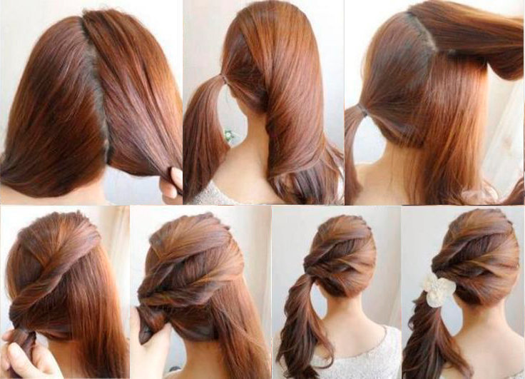 Красивая и легкая прическа на длинные волосы в школу