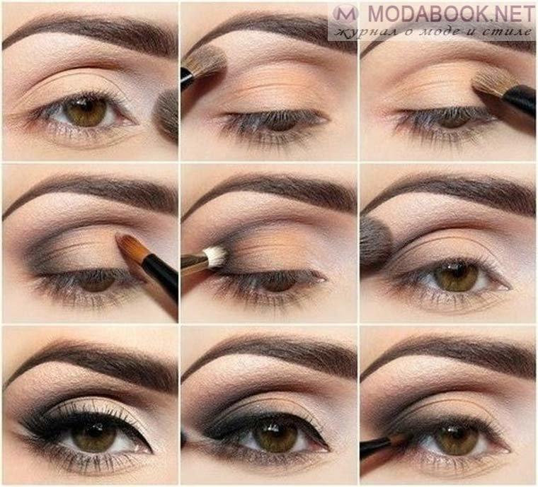 Лёгкий макияж в школу для карих глаз