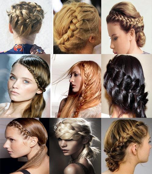 Причёски модные косы