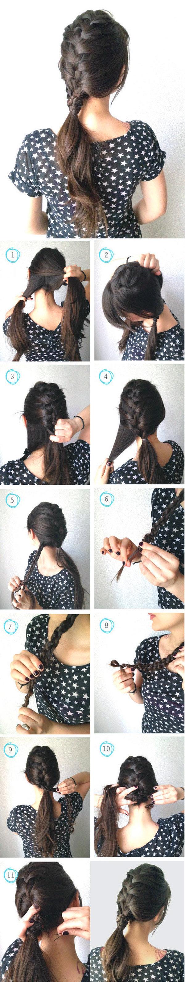 Красивые поэтапные прически для длинных волос для девочек