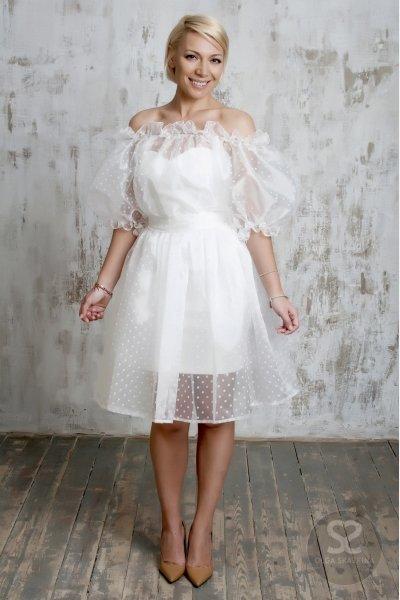 Платье с органзой сверху