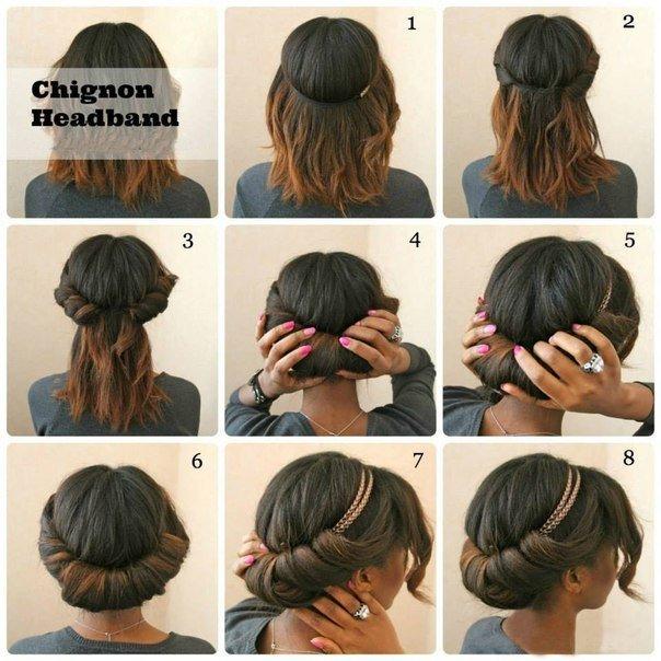 Прически для волос коротких длины в домашних условиях
