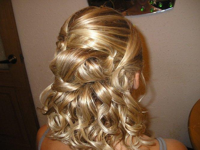 Праздничная причёски на средние волосы в домашних условиях фото