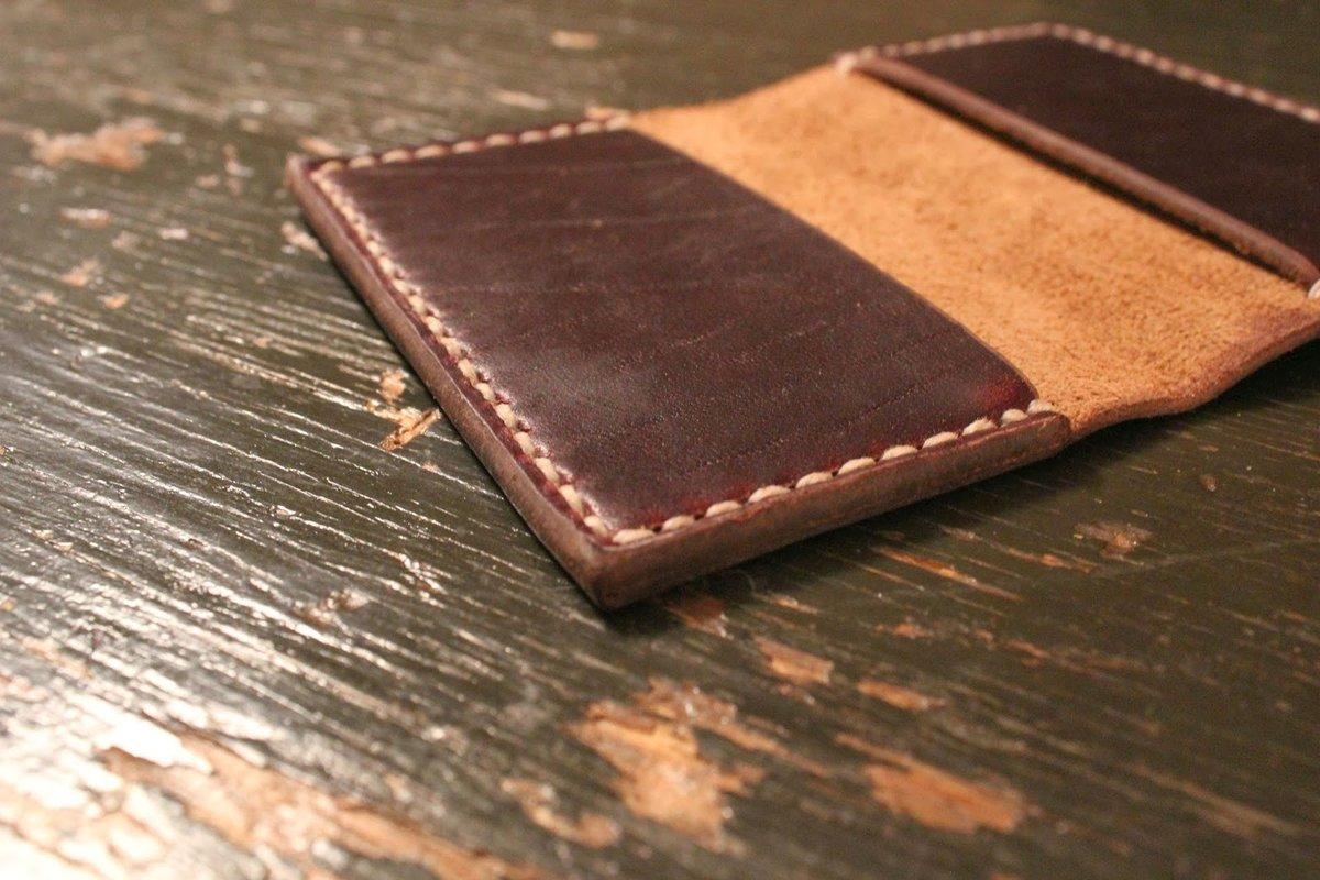 Как сделать кошелек из кожи своими руками 2