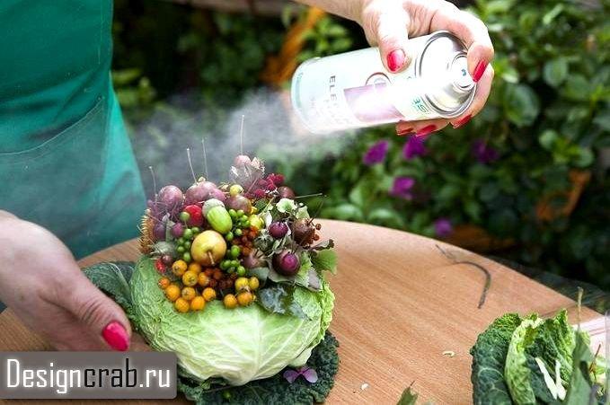 Экибана из овощей своими руками фото