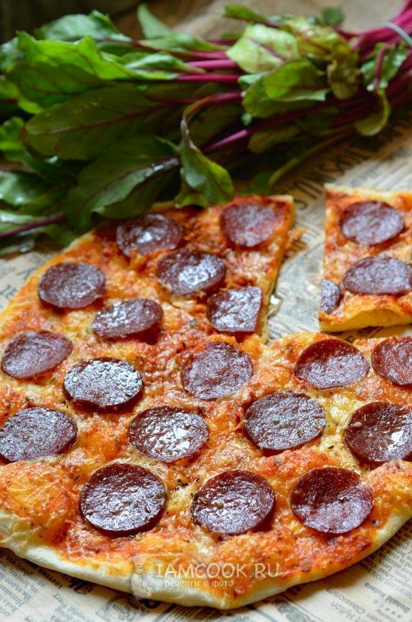 Рецепт пиццы пепперони в домашних условиях