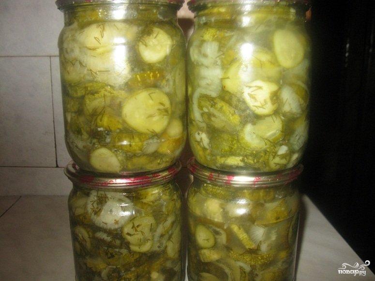 Салат из огурцов с луком на зиму рецепты пошагово