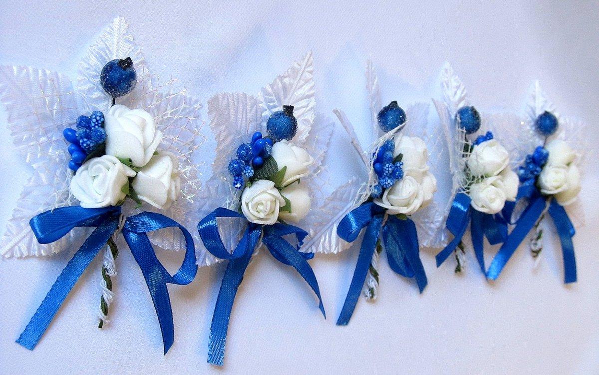 Бутоньерки синие своими руками 43