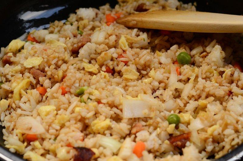 Рис по японски с овощами рецепт с пошагово в