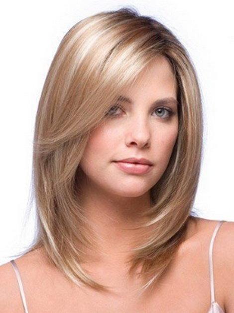 Шикарная стрижка для средних волос
