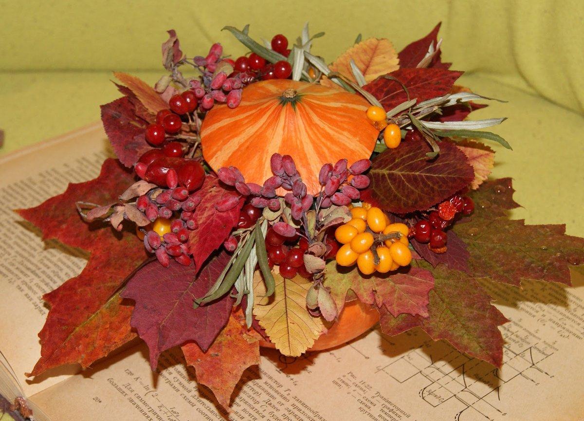 Осенний букет: поделки из природного материала творчсть 14