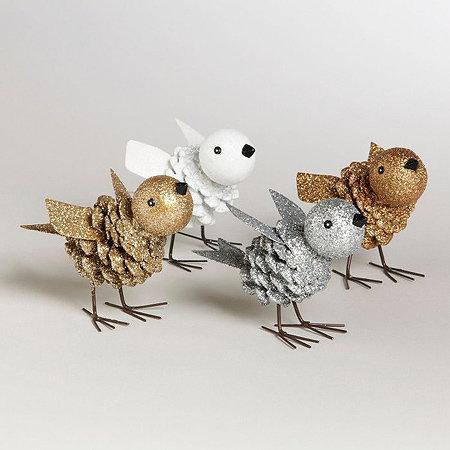 Поделки из шишек птиц своими руками