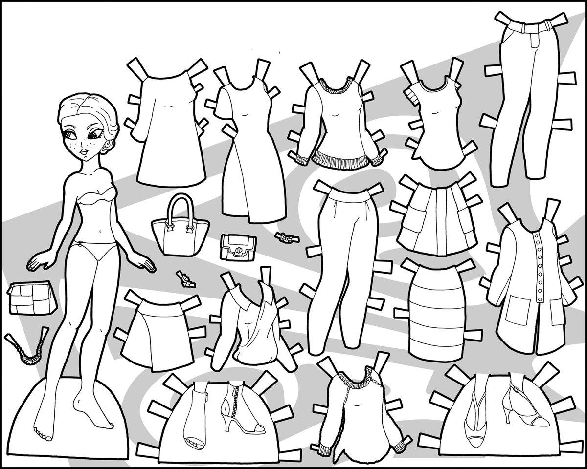 Раскраска одеть куклу 49