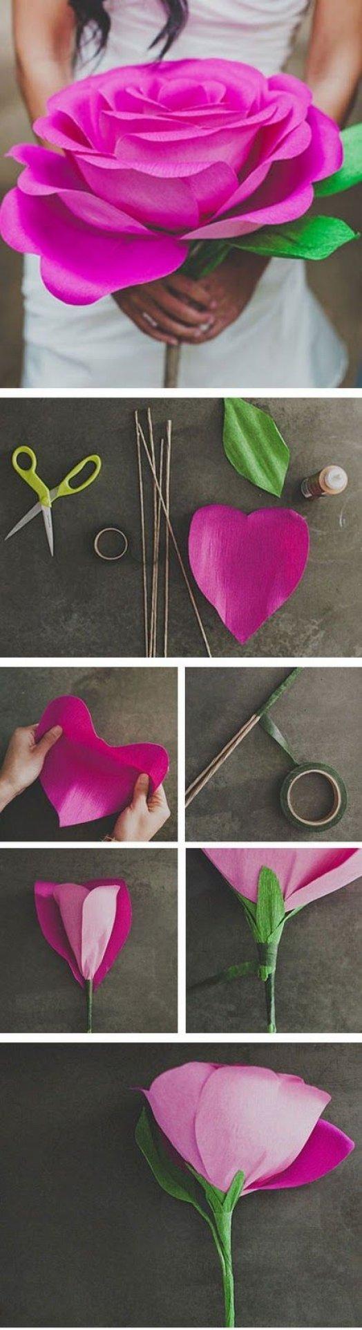 Цветы из бумаги своими руками с пошаговым фото для начинающих