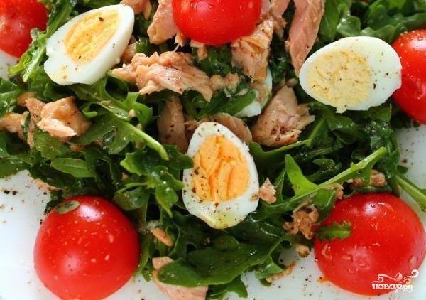Салат с тунцом и руколой рецепты с простые и вкусные