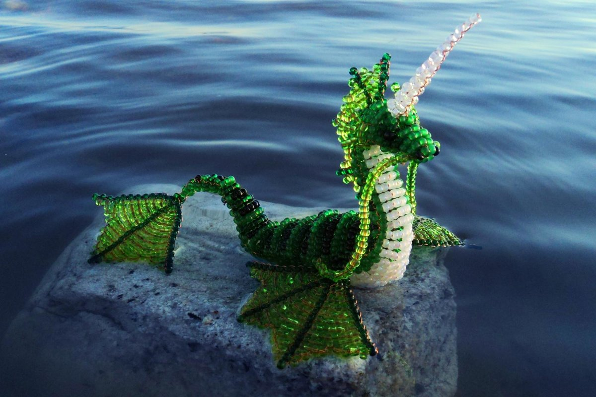 Объёмный дракон из бисера мастер класс с пошаговым фото