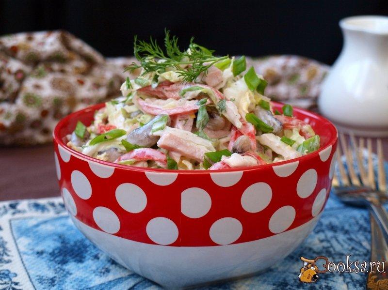 Салат из капусты с ветчиной рецепт с